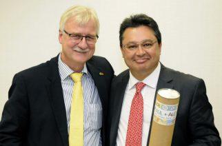 Dr. Wolfram Anders, presidente da AHK São Paulo e Ministro Gustavo Leite