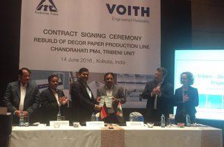 Voith fornece máquina de papel decorativo para Índia