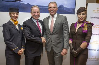 Lufthansa estende cooperação com Etihad Aviation Group