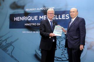 Henrique Meirelles participa de evento da Câmara Brasil-Alemanha