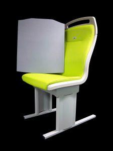 Neue und komfortablere Rückenpolsterung aus Basotect® in Bahnsitzen auf US-Schienen / New and more comfortable seat back cushion made of Basotect® in US rail