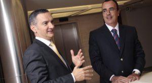Na foto: Roberto Quiroga (um dos fundadores da banca) e José Eduardo Queiroz ( sócio e CEO da banca)