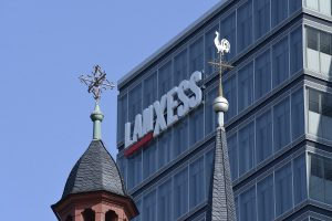 Logos am LANXESS Tower