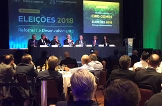 Série Eleições 2018: Eurocâmaras e Club Transatlântico recebem Ciro Gomes