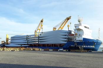 DHL coordena para Vestas maior embarque marítimo de pás eólicas