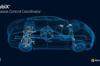"""""""cubiX"""" da ZF: O chassis do futuro feito por código. Um componente de software reúne informações de sensores de todo o veículo e as prepara para um controle otimizado de sistemas ativos em chassis, direção, freios e propulsão. Foto: Divulgação / ZF"""