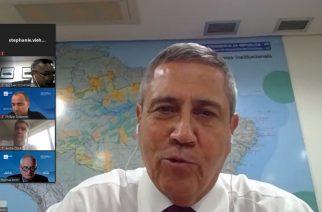 Braga Netto, Ministro da Casa Civil, participa de reunião com empresariado alemão