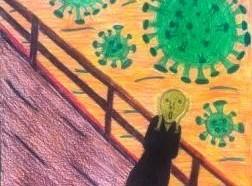Alunos do Colégio Humboldt representam tempos de pandemia em forma de arte