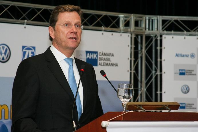 Ministro Dr. Guido Westerwelle visita a Câmara