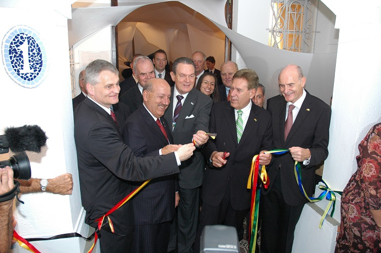 Inauguração do Deutsches Haus em Blumenau