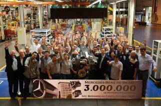 Mercedes-Benz produz 3 milhões de motores no Brasil