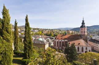 ACollegiate Church, Black Forest,  Panorama, Baden-Wuerttemberg