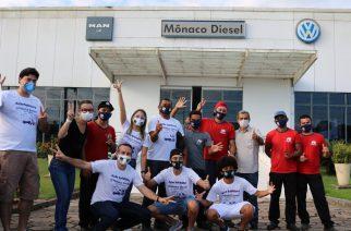 Foto: Equipe da rede de concessionárias Mônaco, com casas no Amapá, Maranhão, Mato Grosso, Pará e Piauí / Divulgação.