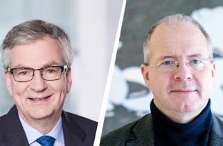 Foto: Martin Daum, CEO da Daimler Truck AG e membro do Conselho de Administração da Daimler AG (esquerda) com Martin Lundstedt, Presidente e CEO do Grupo Volvo (direita)